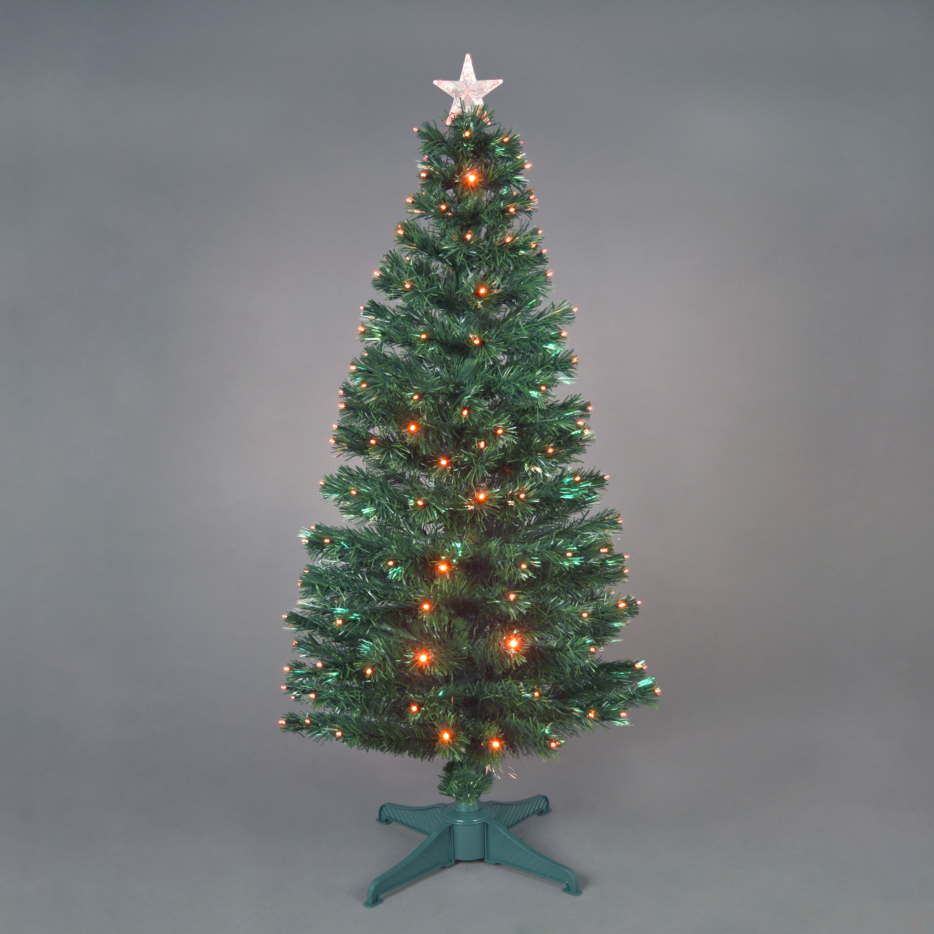 150cm5ft Red Saturn Fibre Optic Christmas Tree with 180 LEDs
