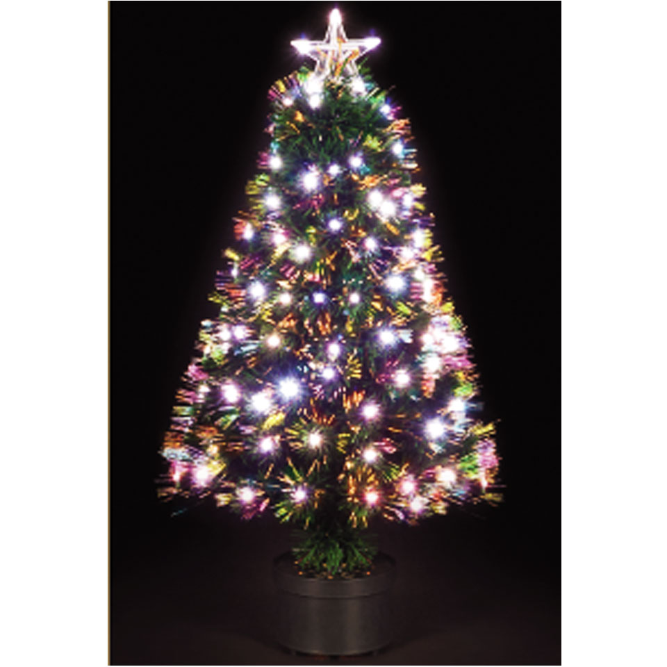 150cm5ft Corona Fibre Optic Christmas Tree with White LEDs