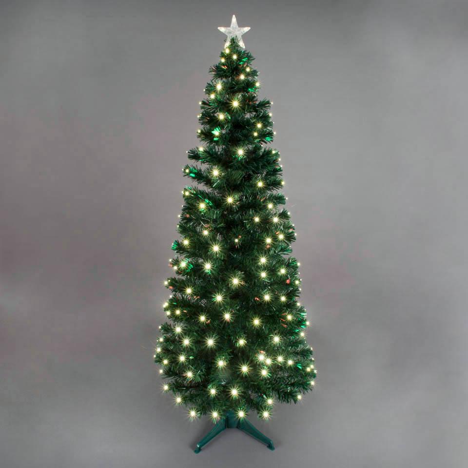 180cm6ft Corona Fibre Optic Christmas Tree with White LEDs