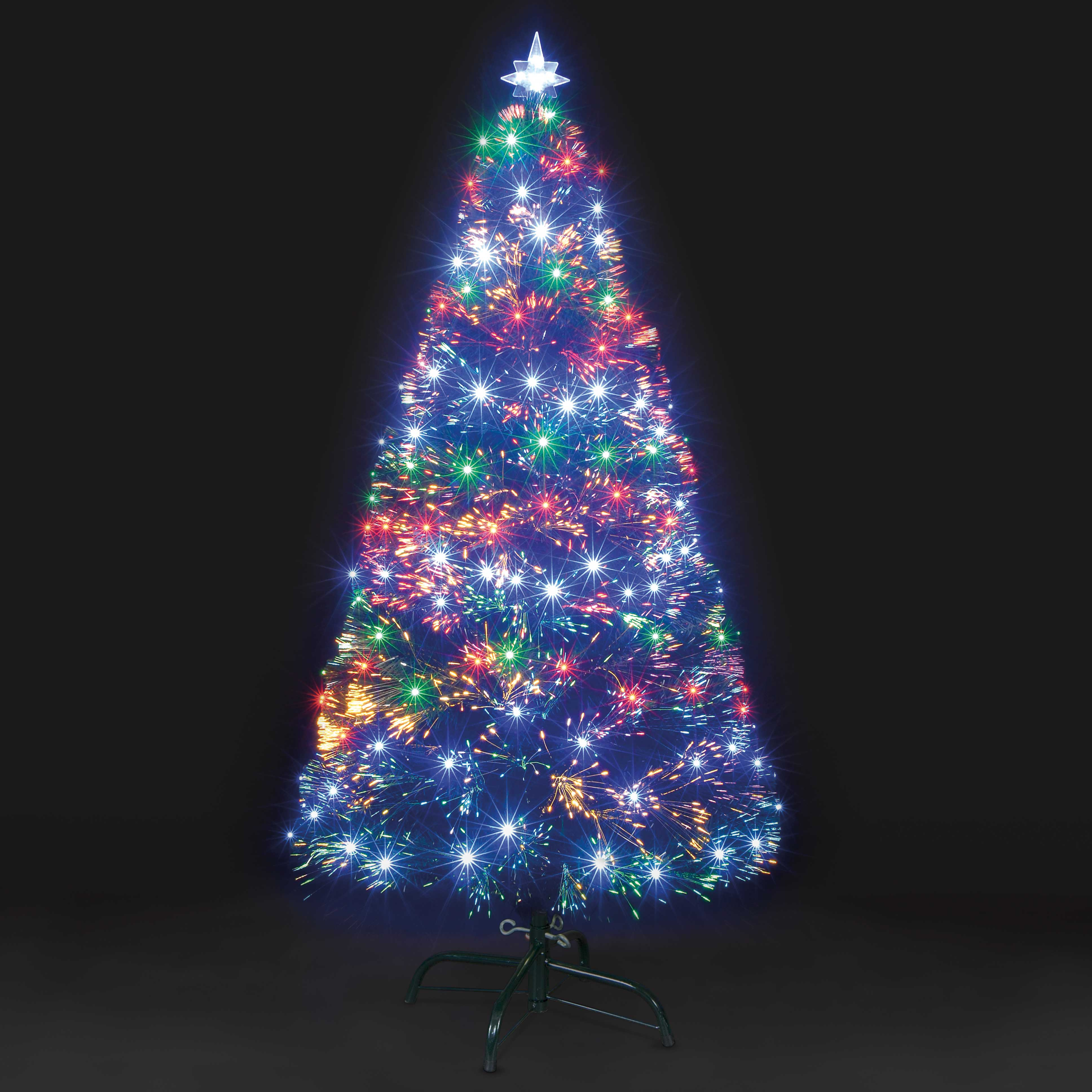 6ft Galaxy MultiColour Fibre Optic Christmas Tree with LEDs