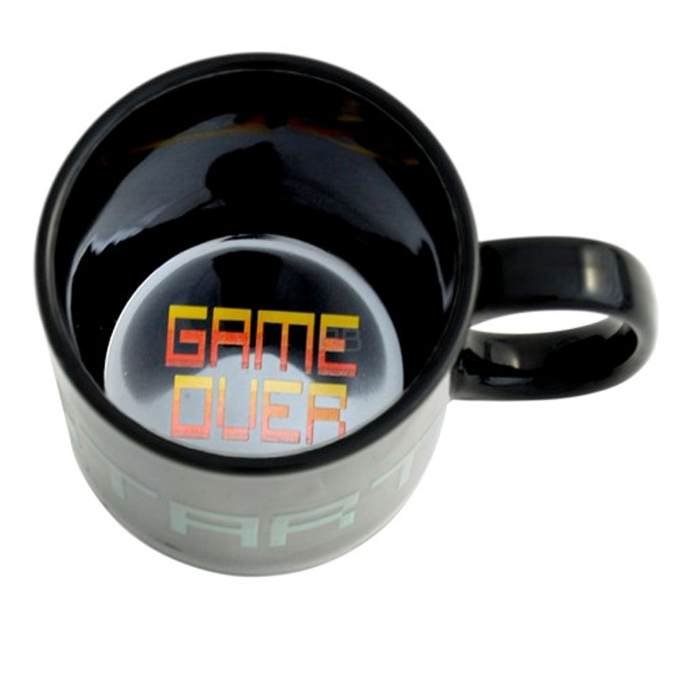 Christmas Trees and Lights Game Over Heat Change Mug