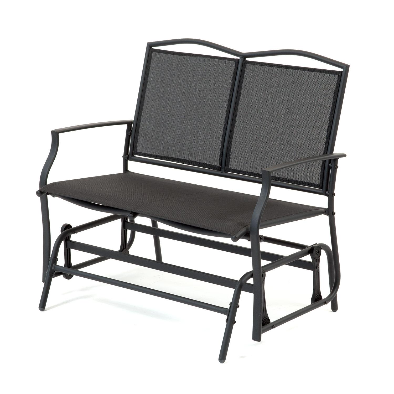 Black 2 Seat Glider Bench 5029936810892 Ebay