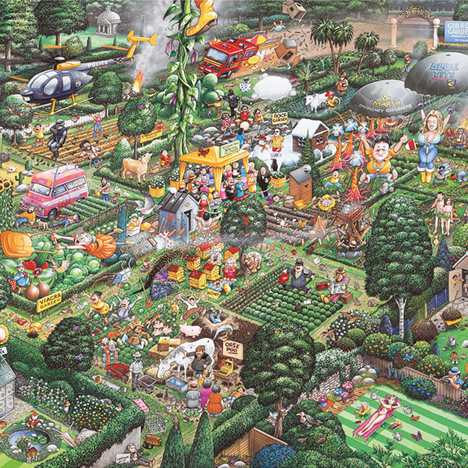 Christmas Trees and Lights I Love Gardening Jigsaw Puzzle (1000 Pieces)