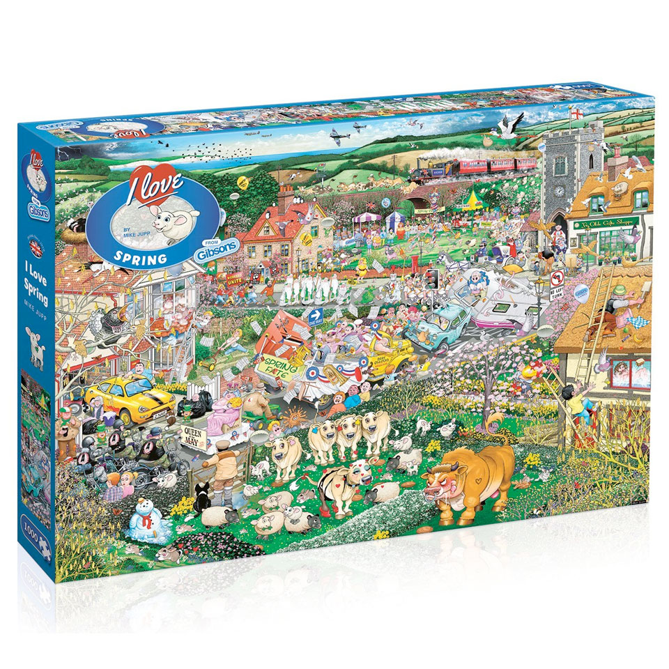Christmas Trees and Lights I Love Spring Jigsaw Puzzle (1000 Pieces)