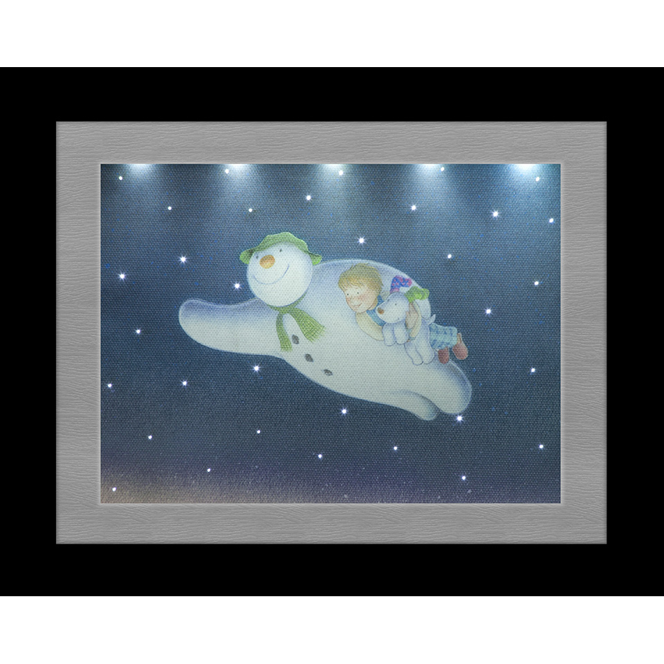 23x18cm Snowman & Snowdog The Flying Scene Photo