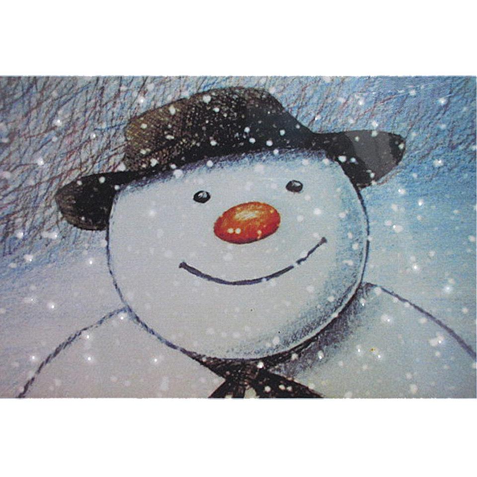 30x20cm The Snowman Snowmans Face Wall Canvas