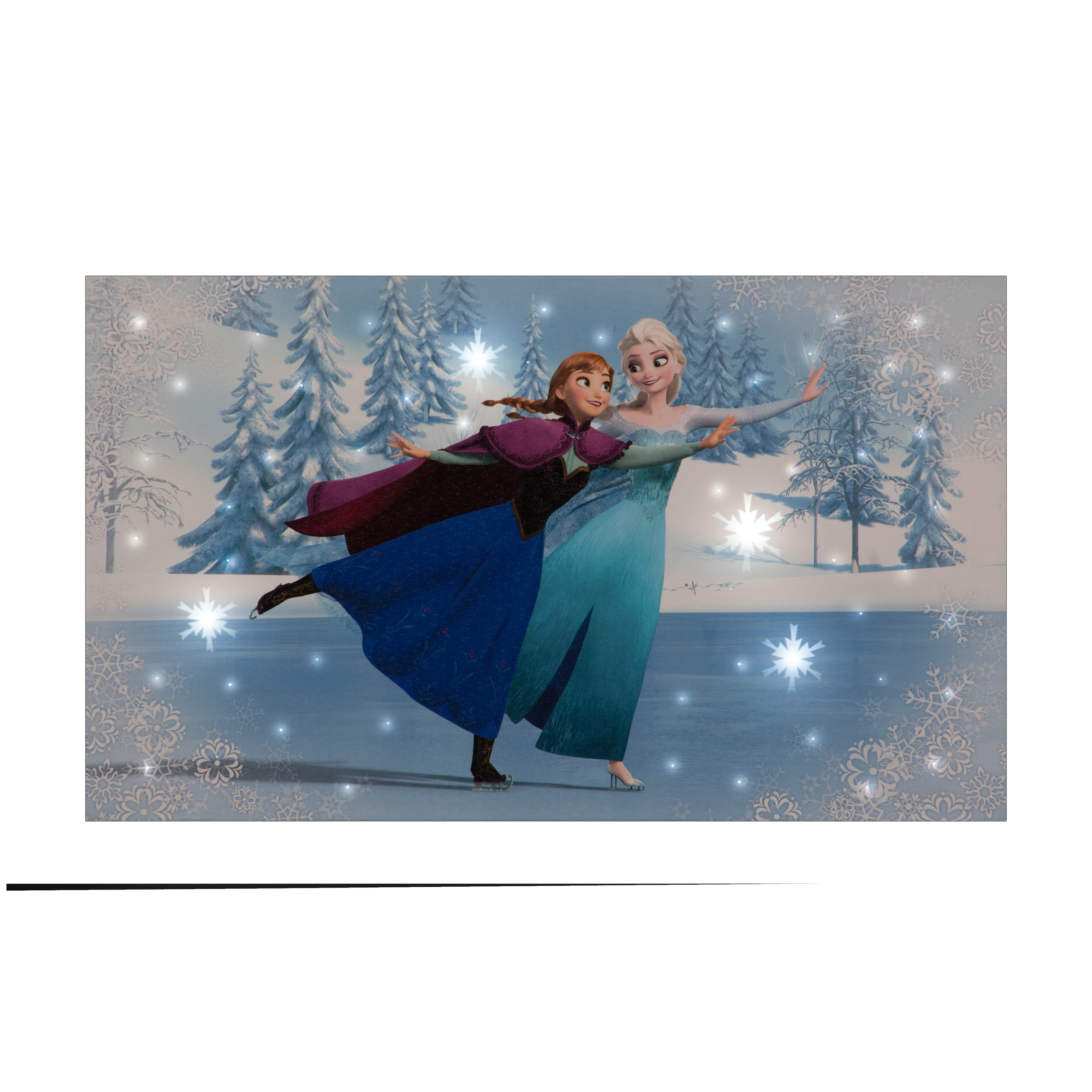Elsa & Anna Skating Disney Frozen Canvas