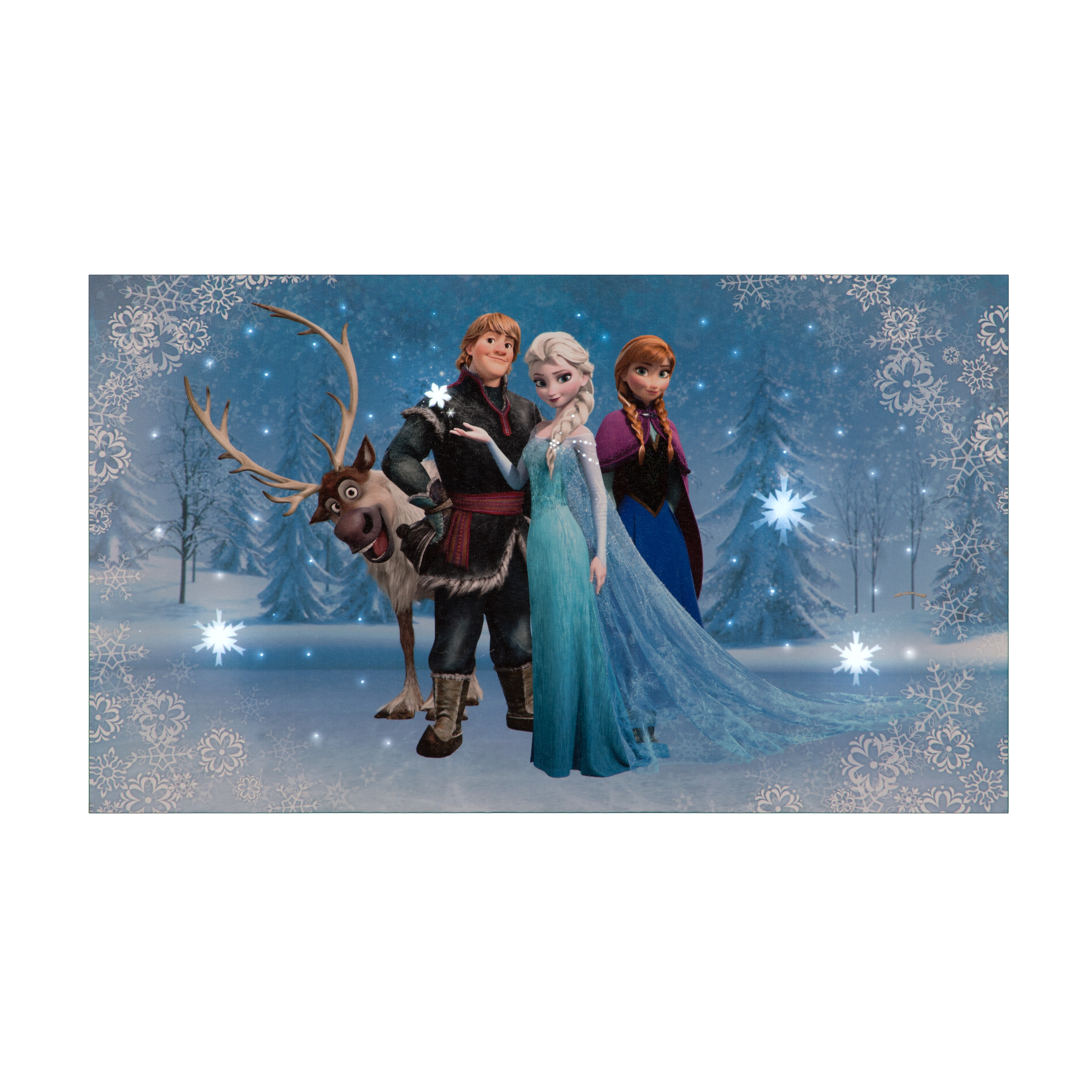 Elsa, Anna, Sven and Kristoff Disney Frozen Canvas