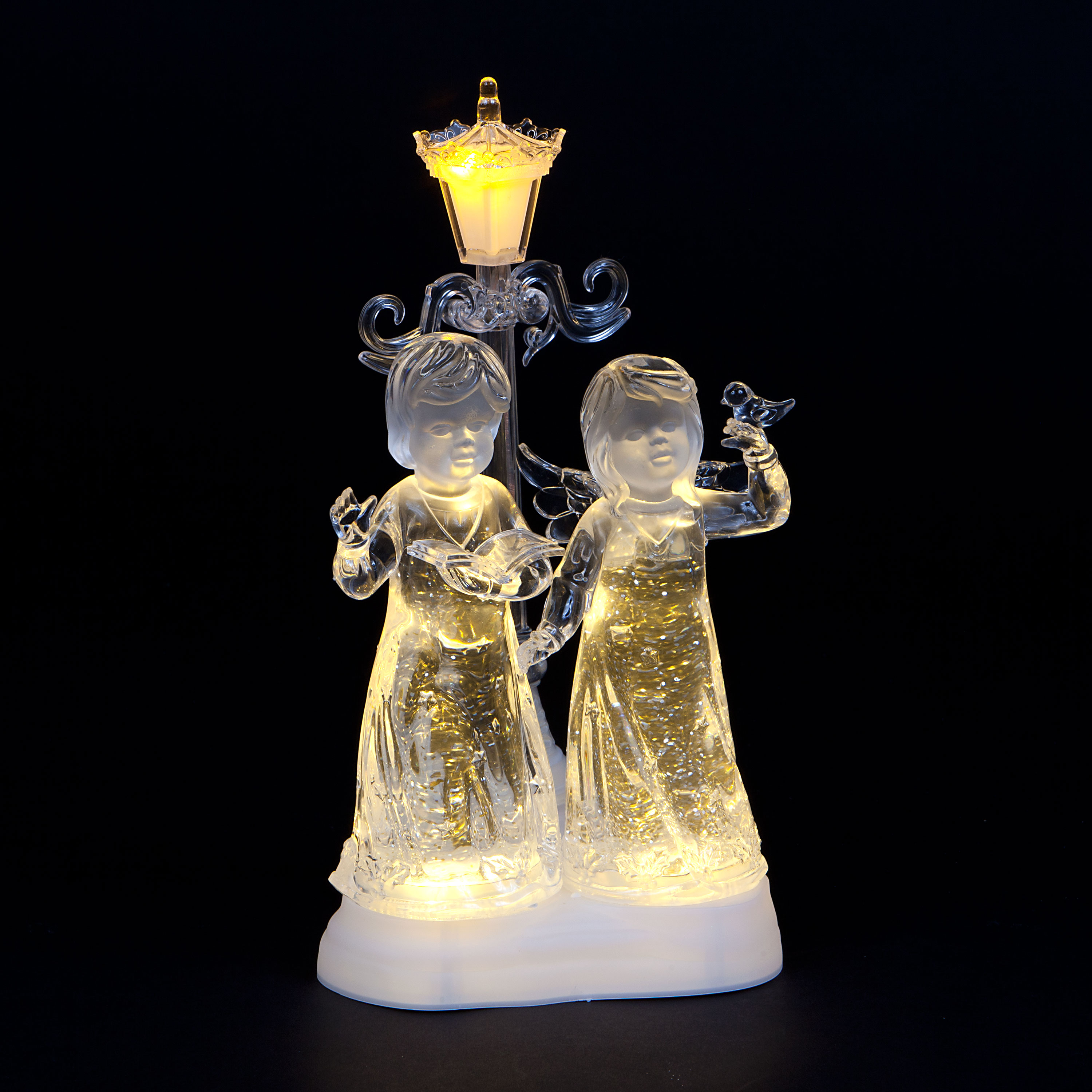 Acrylic Water Angels with Warm White LEDs
