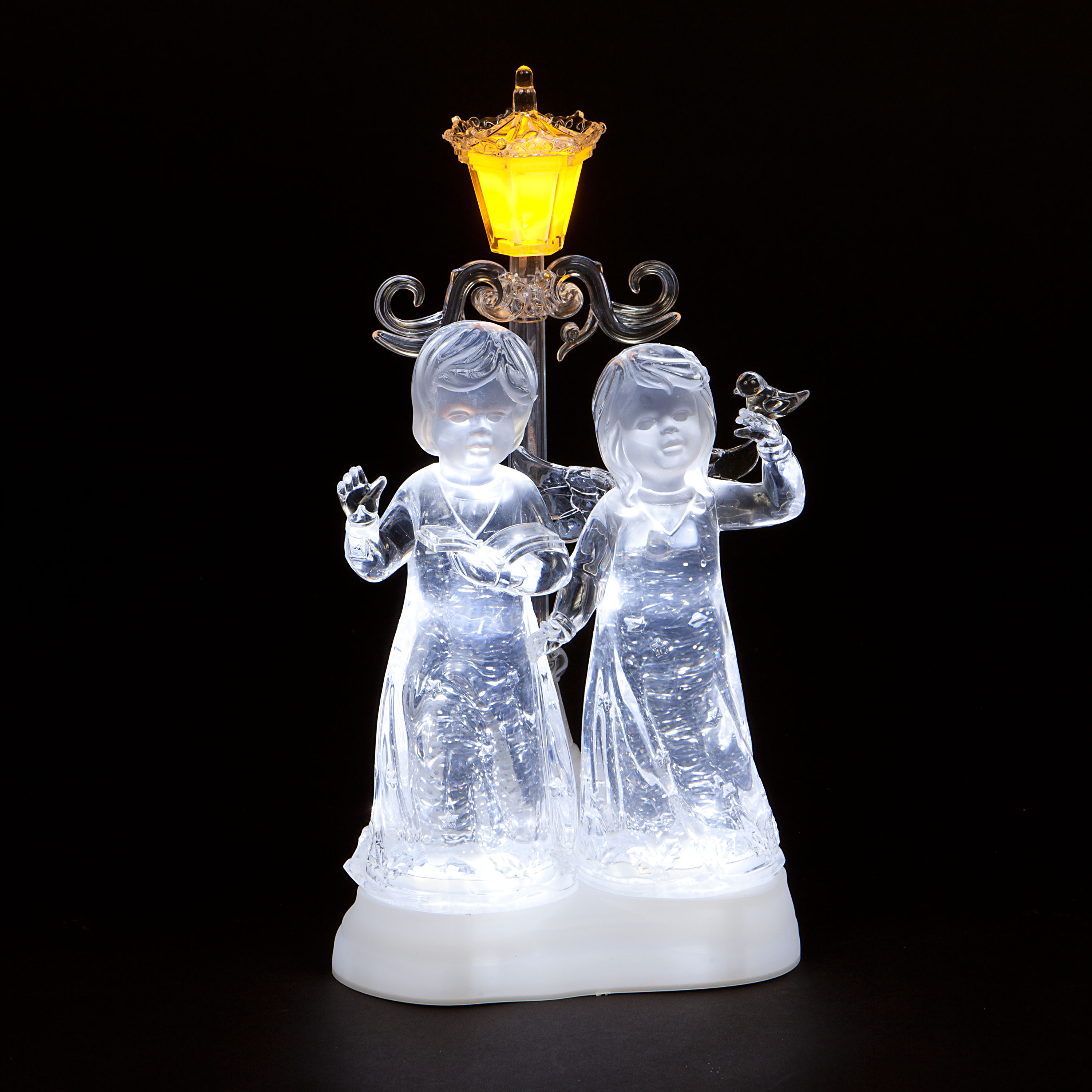 Acrylic Water Angels with Ice White LEDs