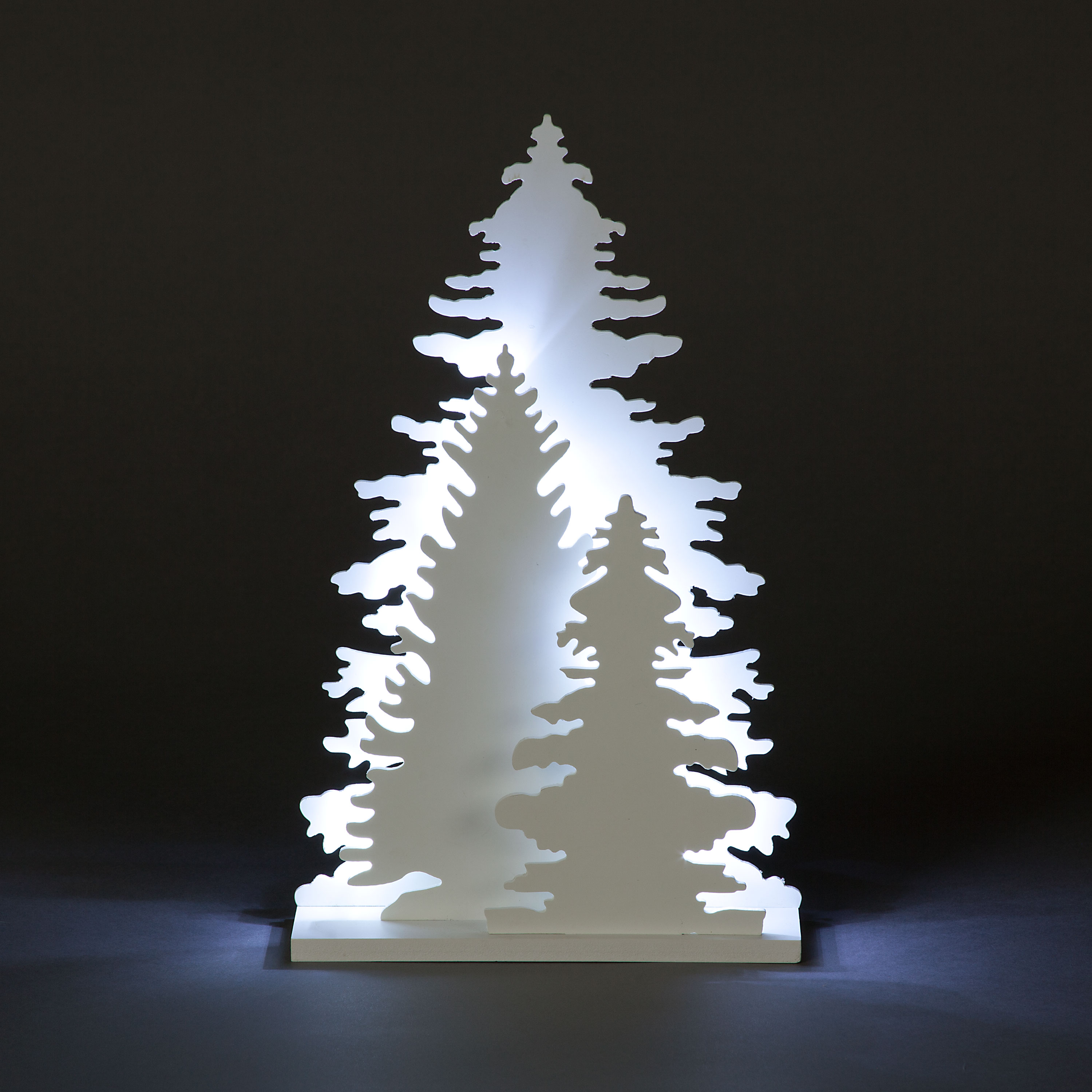 Click to view product details and reviews for Table Top Three Trees Silhouette With Ice White Leds.