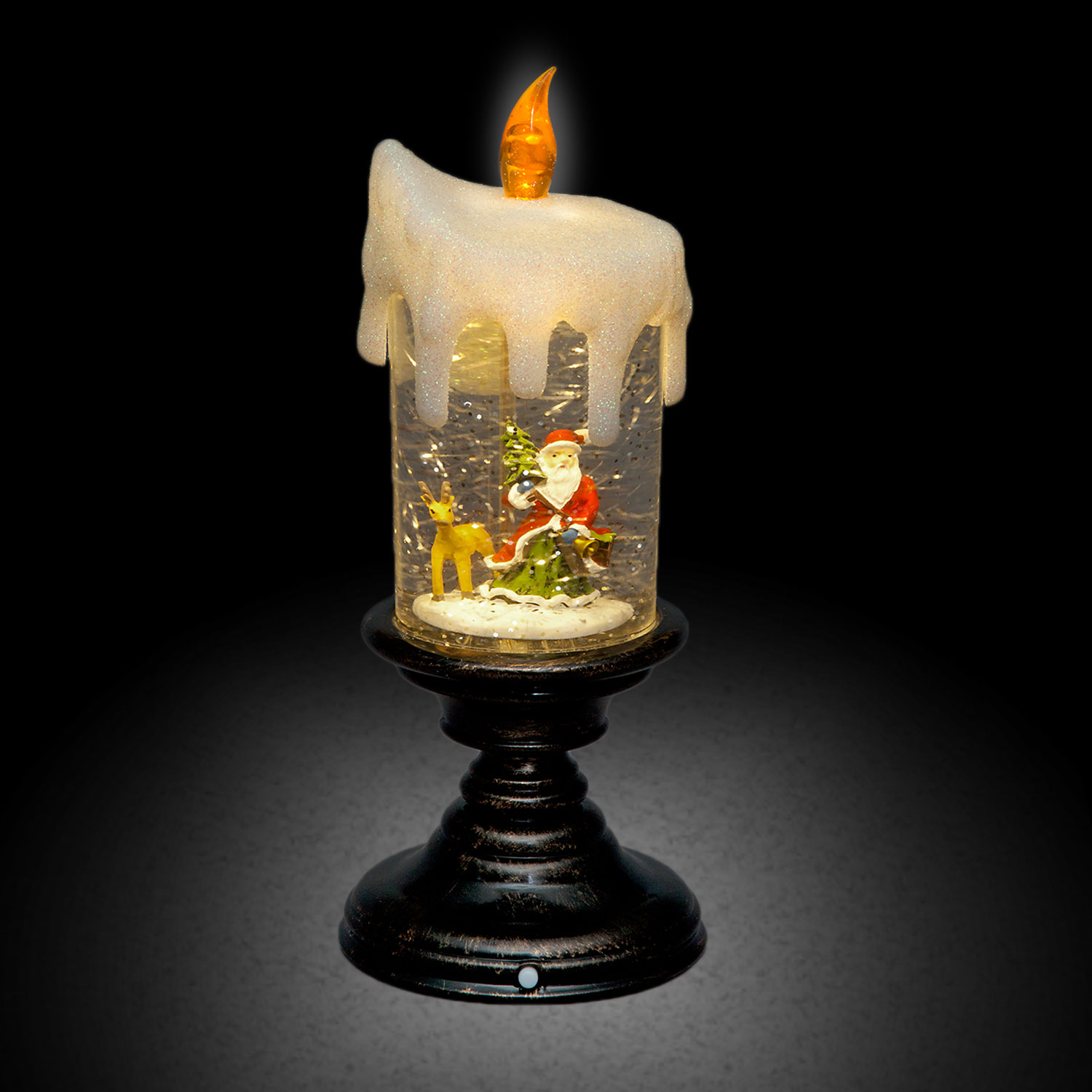 Click to view product details and reviews for Led Candlestick With Santa Scene.