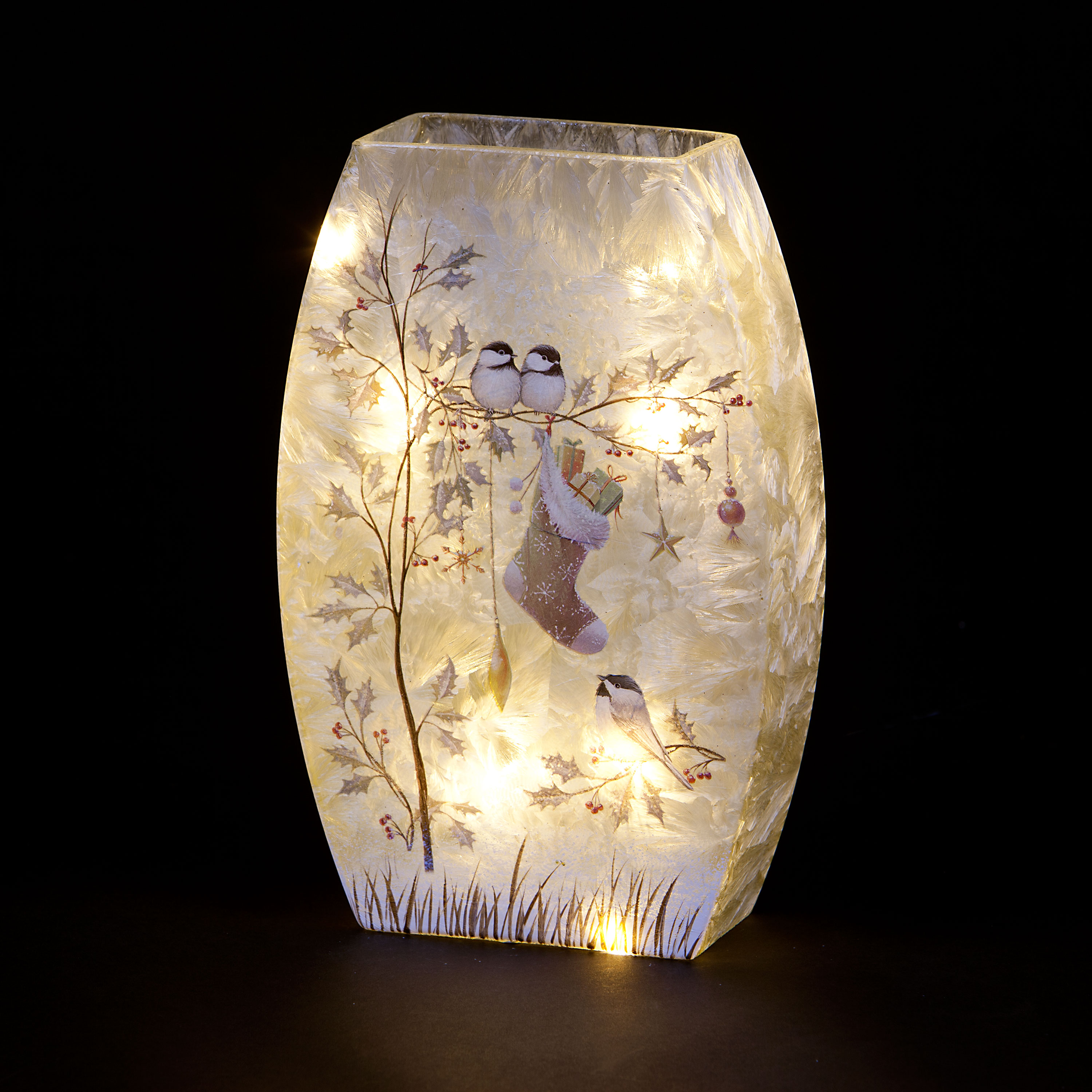 Illuminated Table Lamp with Christmas Gifts Design