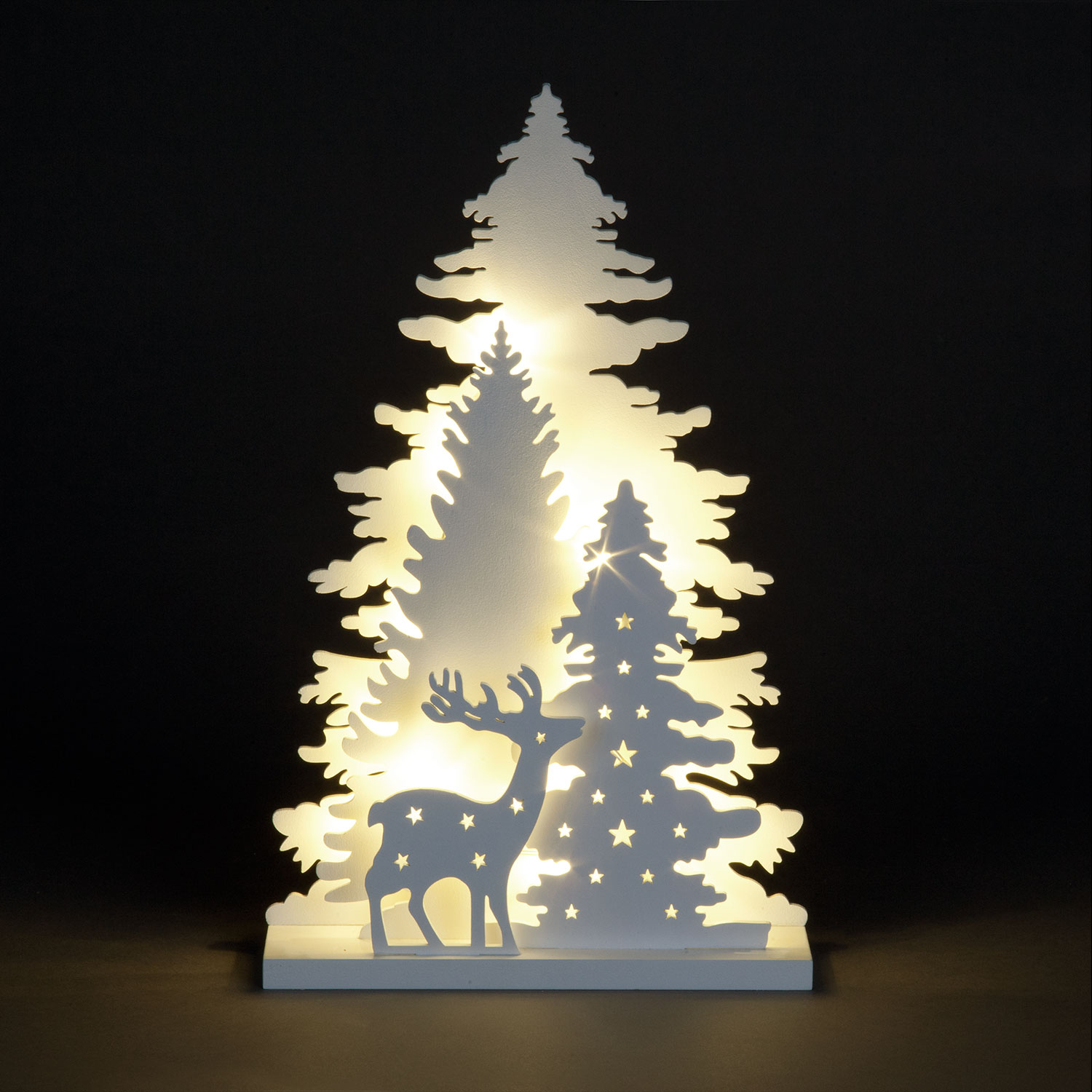 Christmas Trees and Lights 3 Layer LED Wooden Xmas Trees & Deer