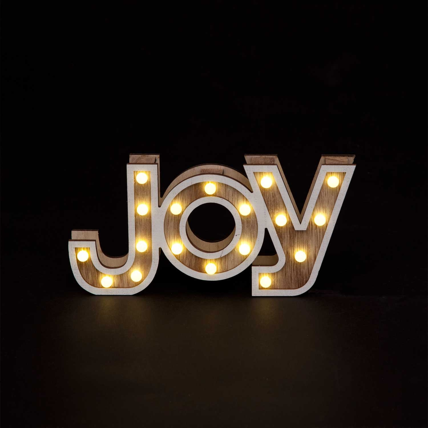 Click to view product details and reviews for 12cm Wooden Light Up Joy Letters.