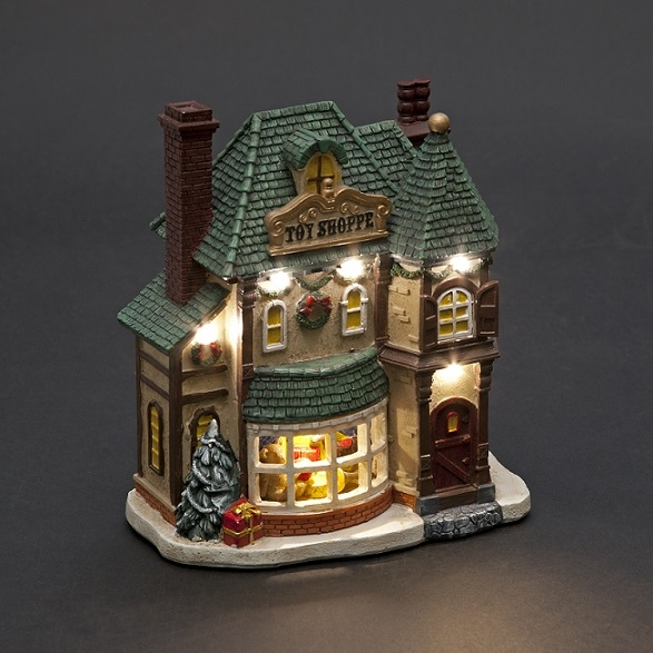 Battery Operated 19cm Toy Shop With LEDs