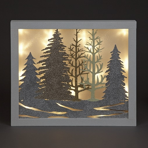 Click to view product details and reviews for Battery Operated 36cm Wooden Plaque With Trees Included 1 Ivory Leds.