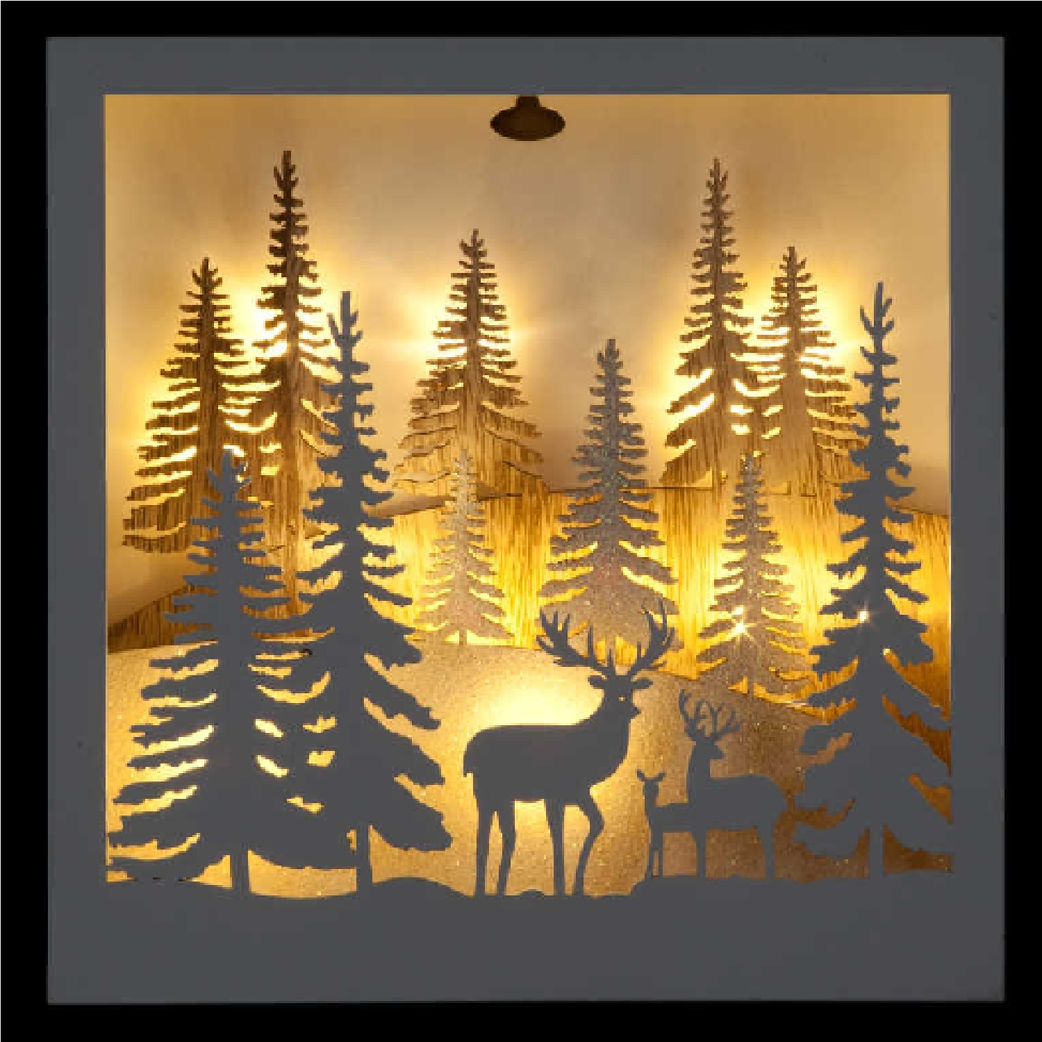 Click to view product details and reviews for Battery Operated Square Hanging Forest Scene.