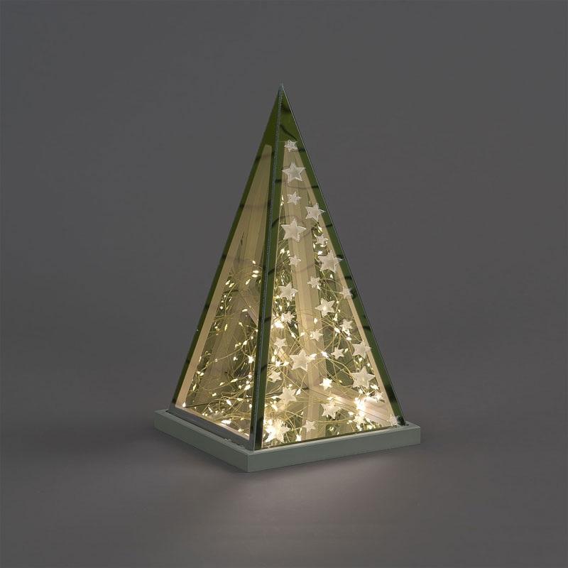 Christmas Decoration 30cm Infinity Pyramid with Star Design