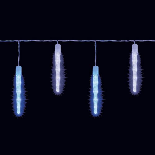 40 Electric Blue And Ice White Outdoor Icicle Led Christmas Lights Ebay