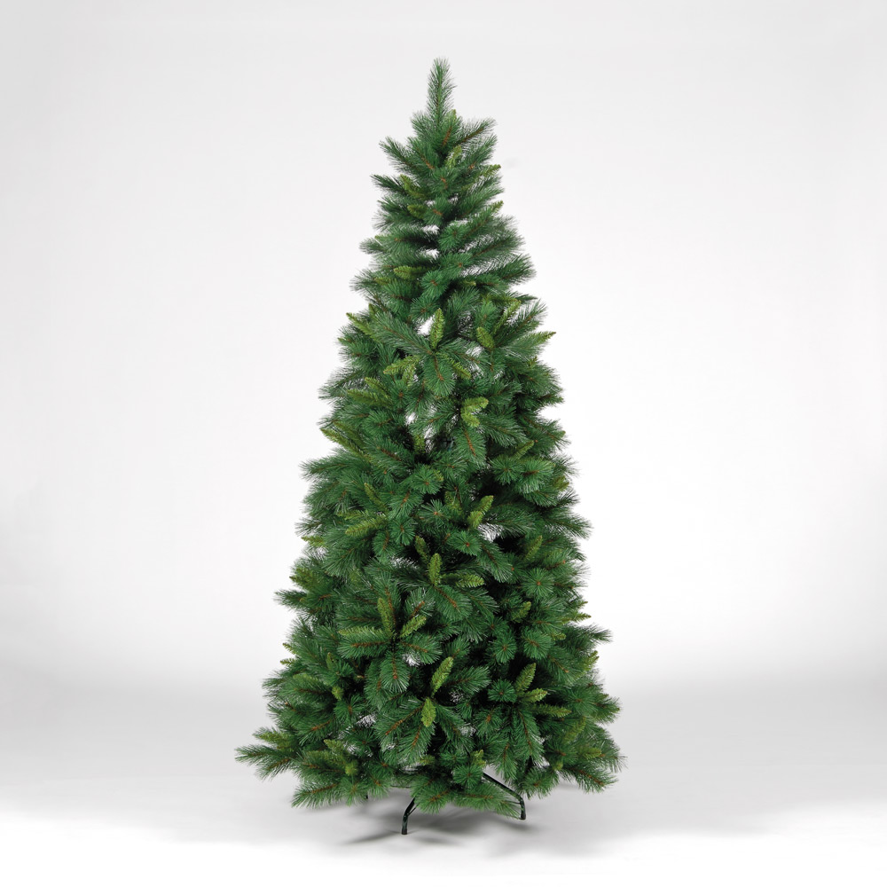 7ft210cm Emerald Hardneedle Pine Green Artificial Christmas Tree