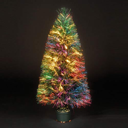 3ft90cm Sunburst Fibre Optic Christmas Tree
