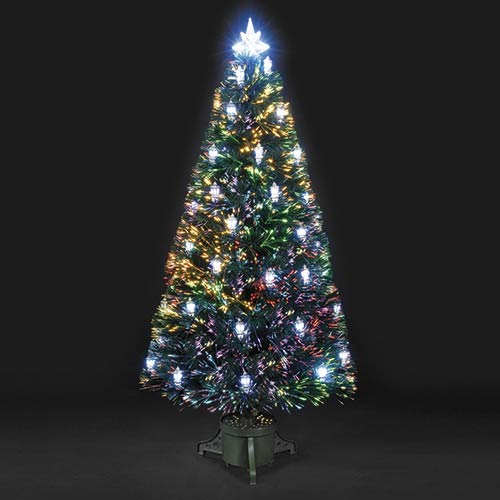 6ft Colour Changing Lantern Fibre Optic Christmas Tree