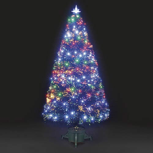4ft120cm Galaxy MultiColour Fibre Optic Christmas Tree with LEDs