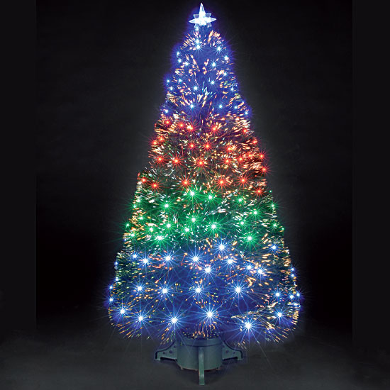3ft90cm Fantasia Green Fibre Optic Christmas Tree