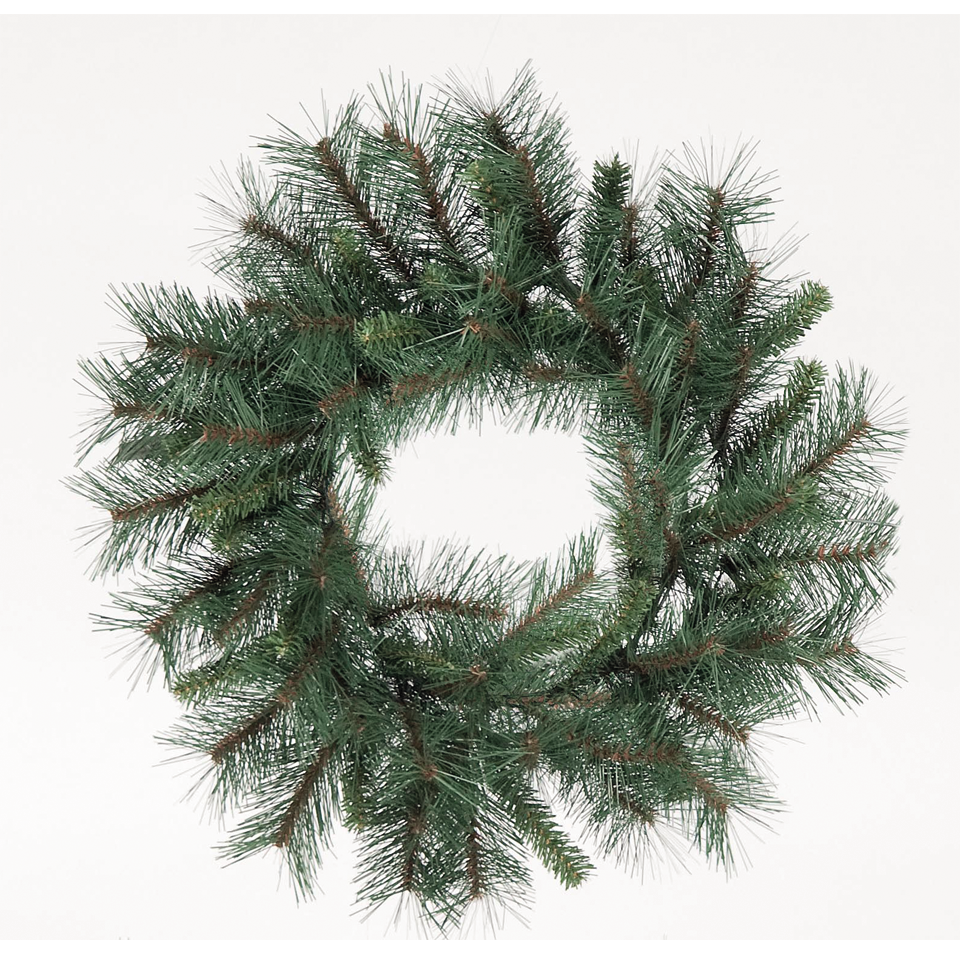 Christmas Trees and Lights 1.5ft Green Mixed Pine Wreath