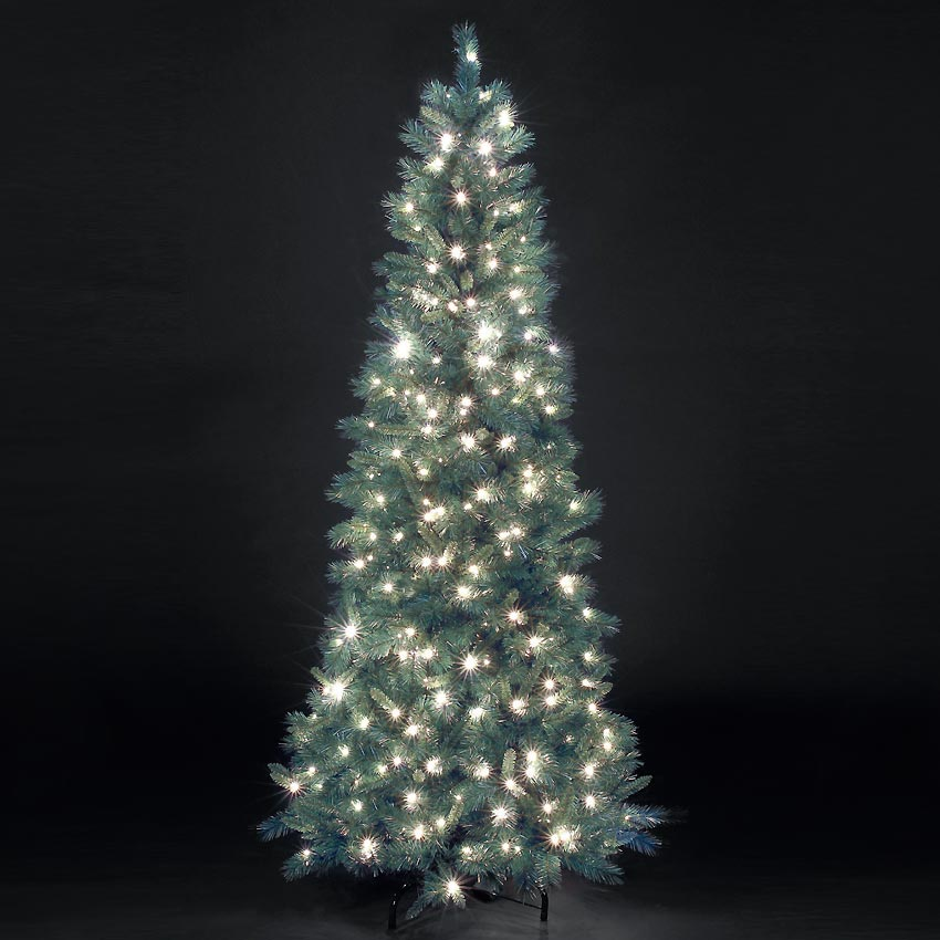 7ft PreLit Blue Duchess Artificial Christmas Tree