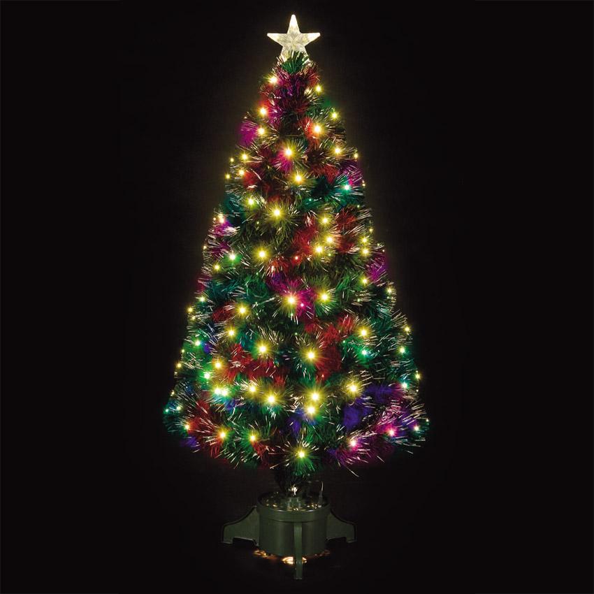 5ft fibre optic comet green christmas tree ebay. Black Bedroom Furniture Sets. Home Design Ideas