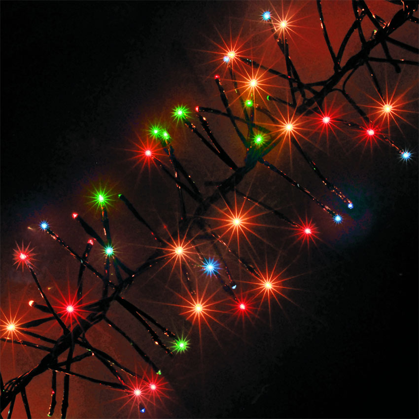 Christmas Decoration 720 Multi-Colour Chasing Outdoor Cluster LED Christmas Lights