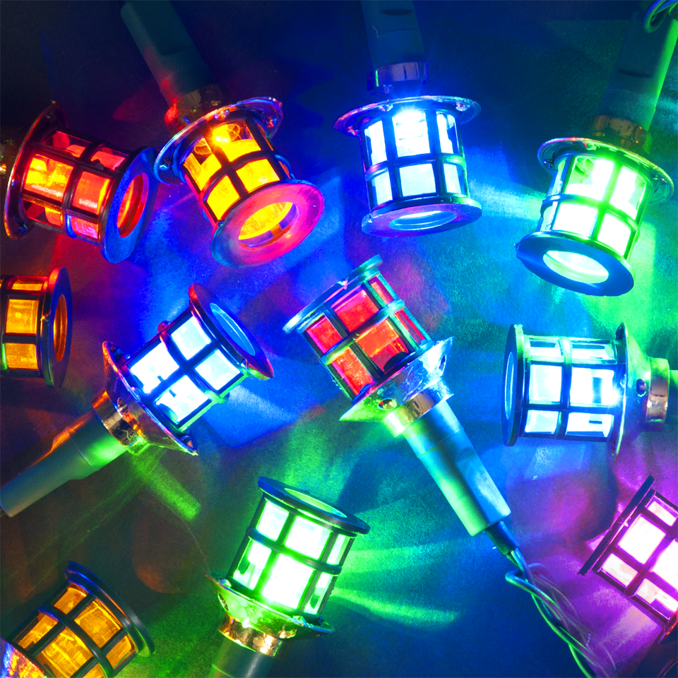 Christmas Decoration 3.9m Chain of 40 Multicolour Static LED Indoor & Outdoor Palace Christmas Lights