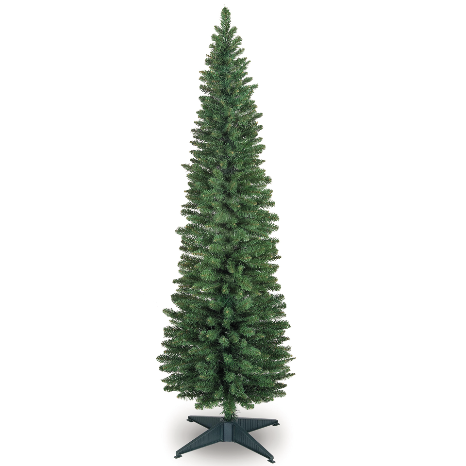 7ft Pre Lit Slim Christmas Tree