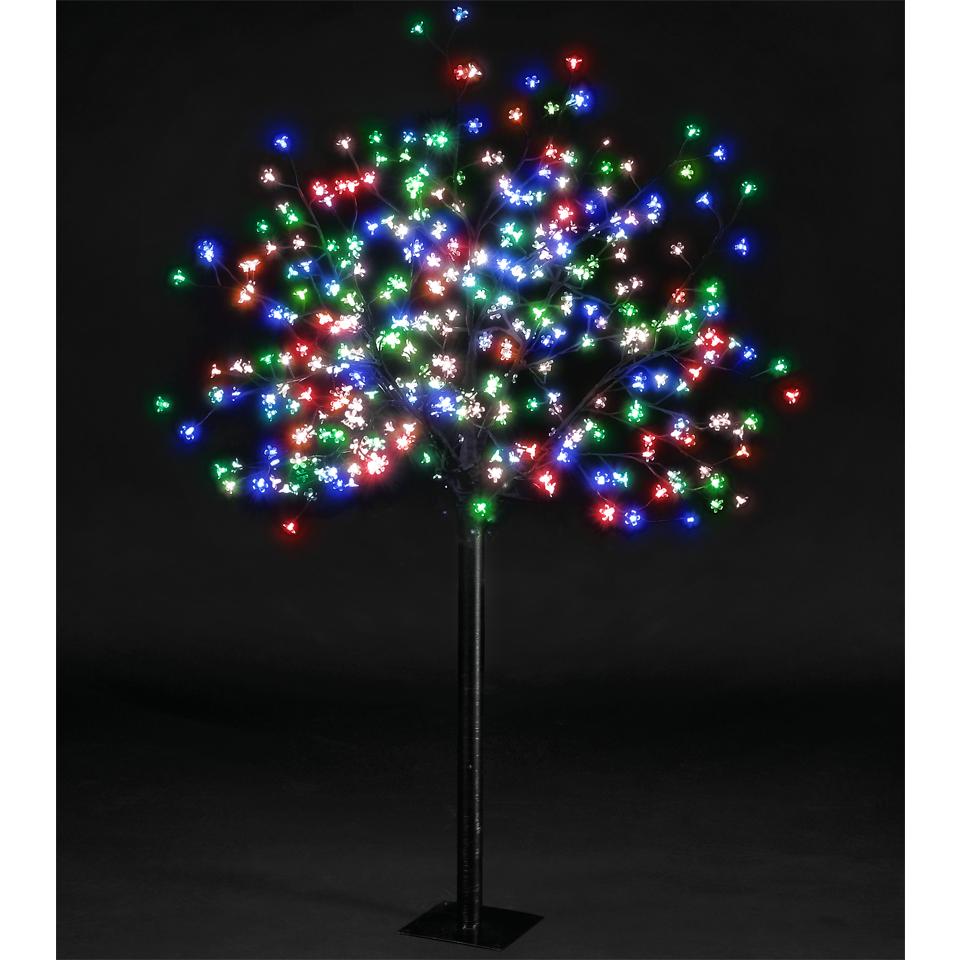20 6ft Christmas Tree Cheap Pre Lit Flock Holly Pop