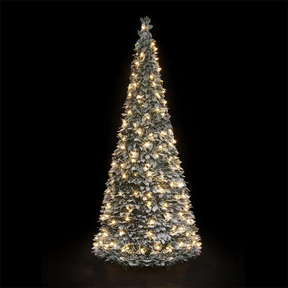 6ft pre lit flocked holly pop up christmas tree ebay. Black Bedroom Furniture Sets. Home Design Ideas