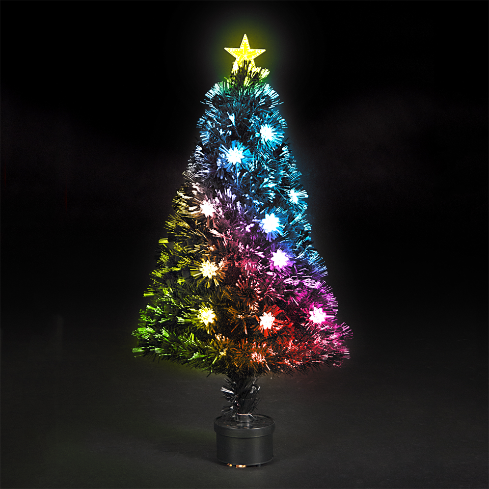 150cm5ft Fibre Optic Multicoloured Clematis Christmas Tree