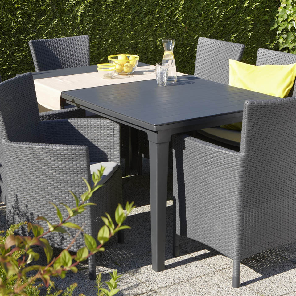 Allibert Graphite Grey Futura Outdoor Garden Dining Table  : image4534 from www.ebay.co.uk size 960 x 960 png 1352kB