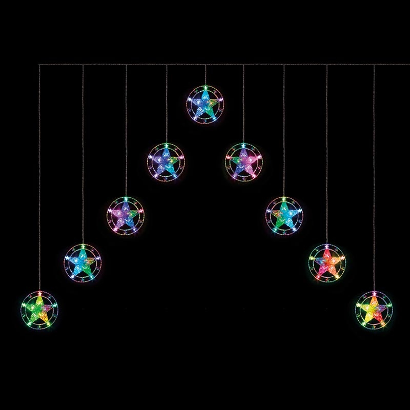 Click to view product details and reviews for V Shape Star Curtain Light.