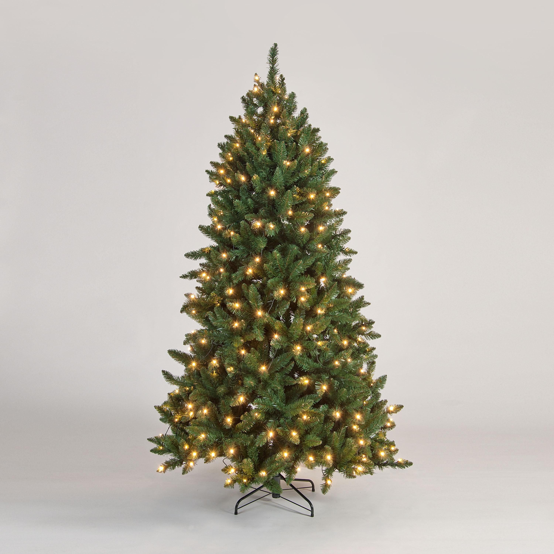 7ft PreLit Lawson Green Pine Artificial Christmas Tree
