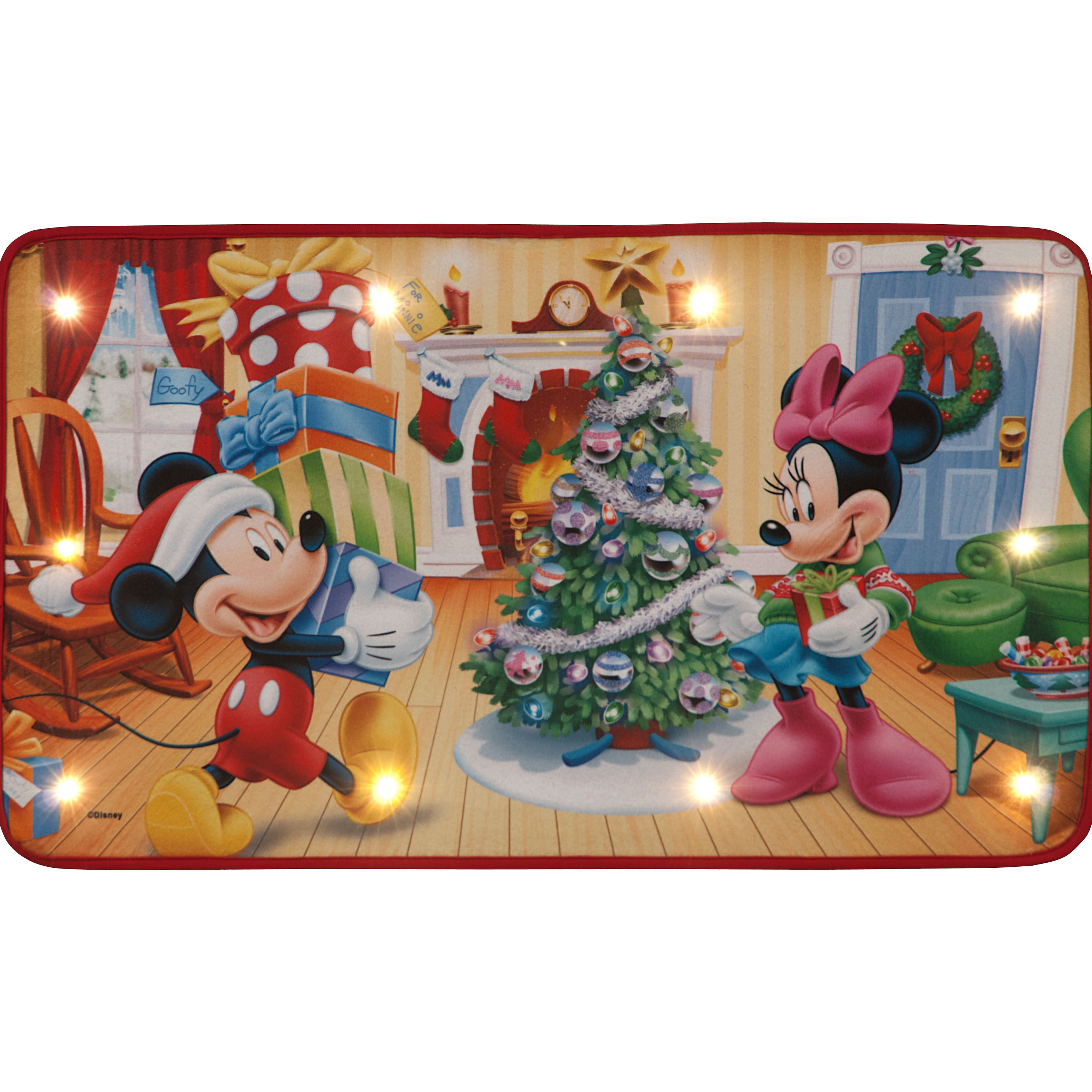 Click to view product details and reviews for 70x40cm Mickey Minnie Getting Ready For Christmas Disney Door Mat.