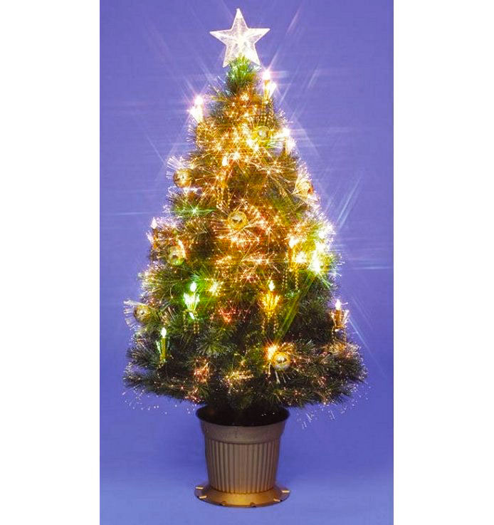 180cm6ft Golden Grace Fibre Optic Christmas Tree
