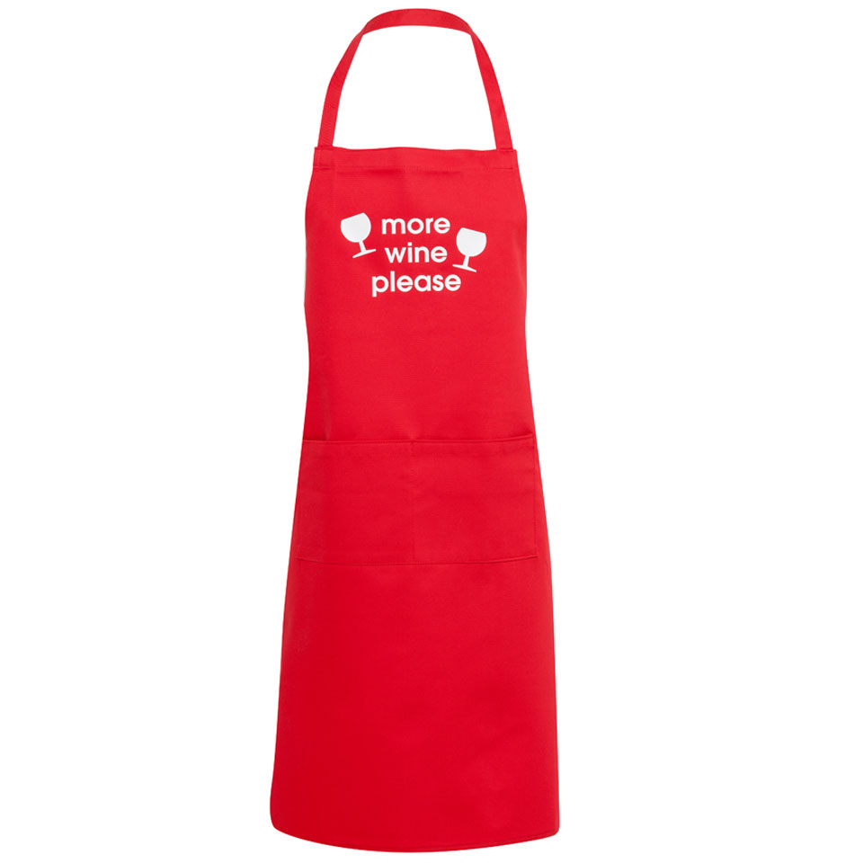 More Wine Red Apron