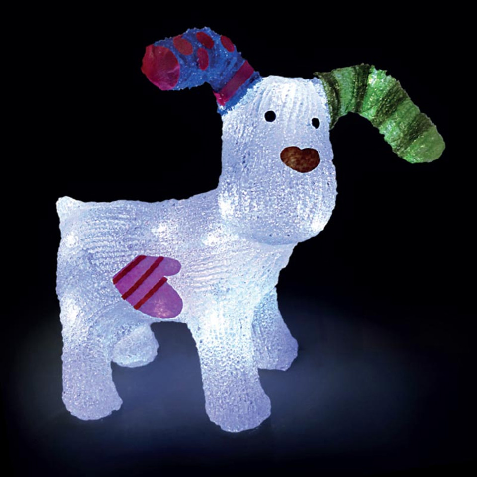 Raymond Briggs The Snowman Christmas Tree Decorations: SALE On Battery Operated The Snowdog Figure With 24 LEDs