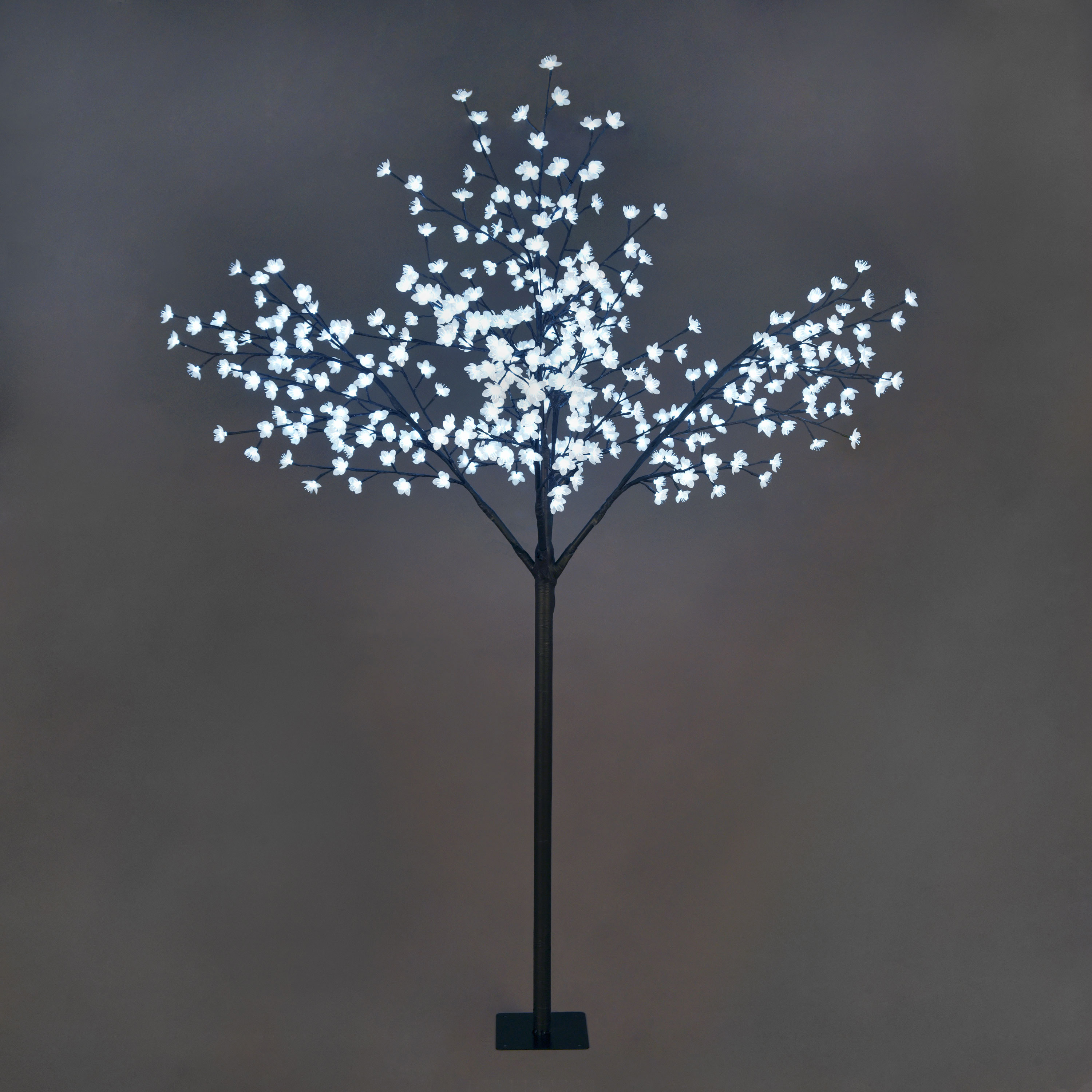 Christmas Trees and Lights 6.8ft Deluxe Blossom Tree with 400 Ice White Static LEDs