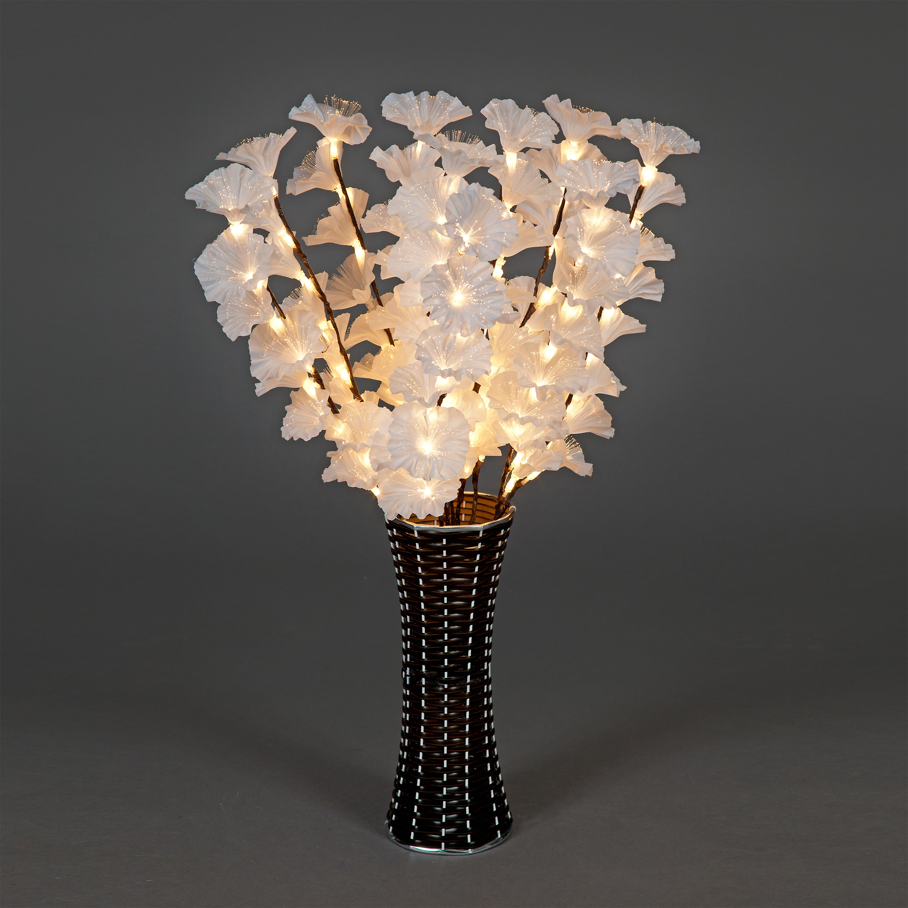 Christmas Trees and Lights Magnolia 80cm Warm White Fibre-Optic Vase