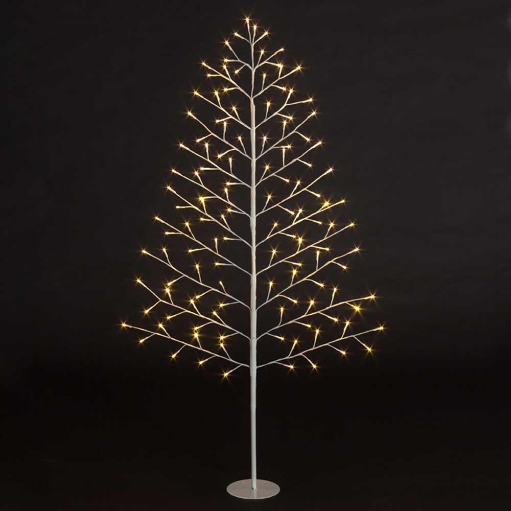 lit 2d tree w 96 warm white leds ebay. Black Bedroom Furniture Sets. Home Design Ideas