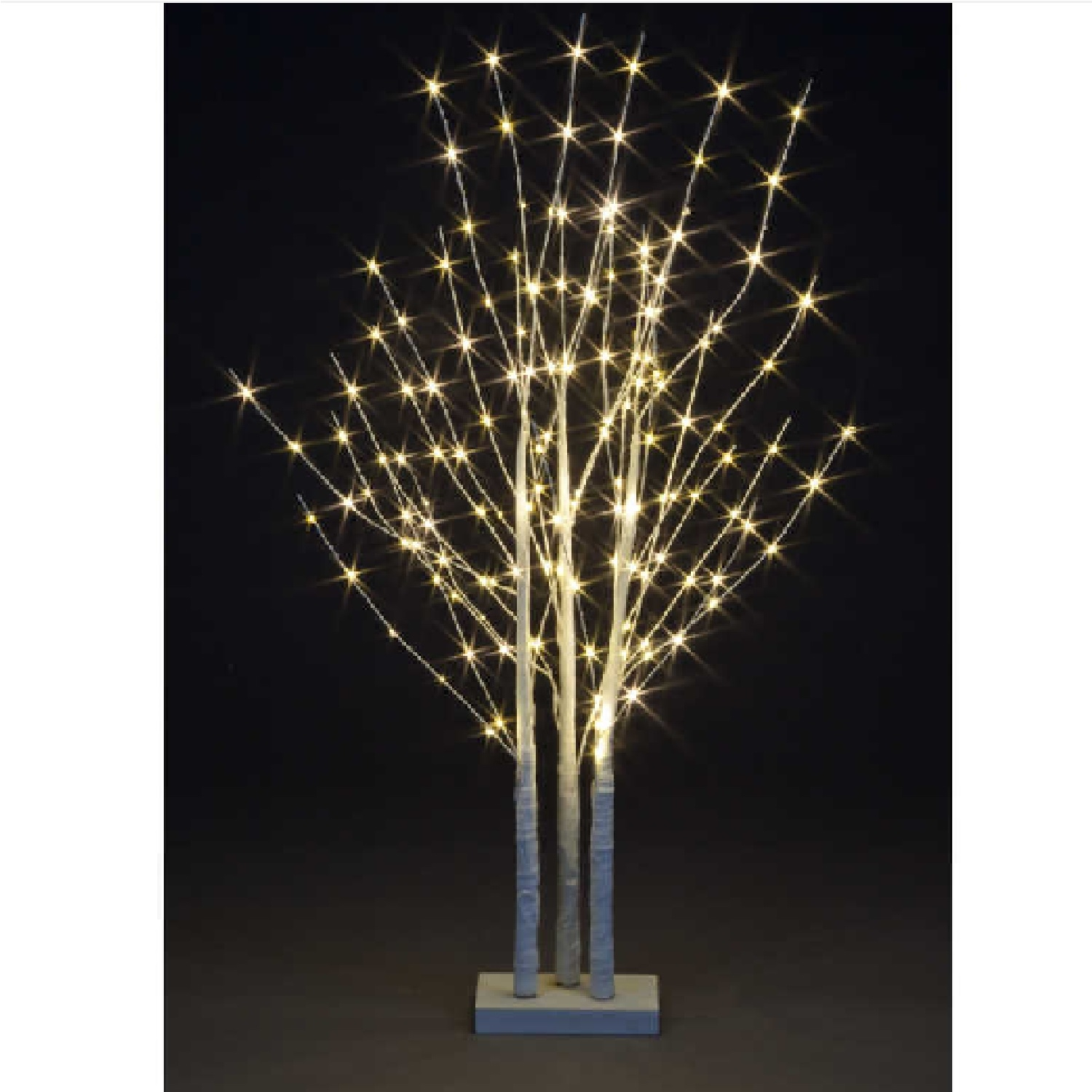 Click to view product details and reviews for 12m White Branch Trio Base With 150 Warm White Copper Wire Indoor.