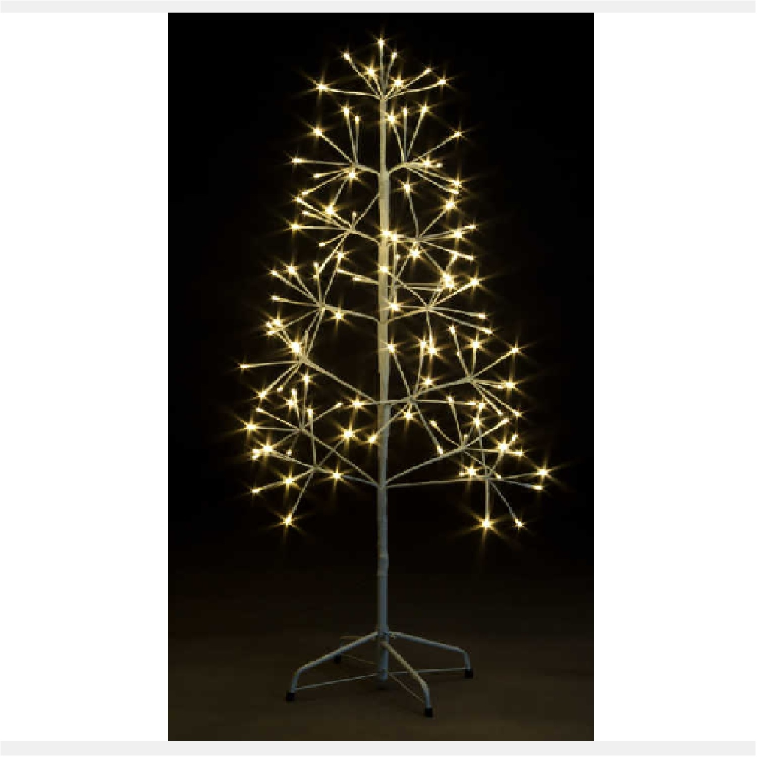Click to view product details and reviews for 12m Firework Shape Tree With 120 Warm White Leds.